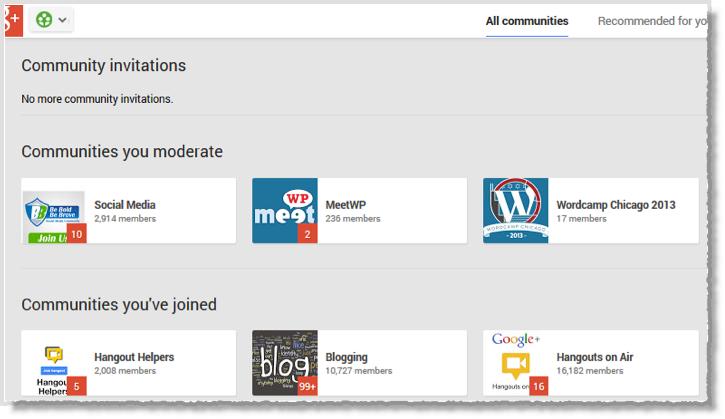 1 google plus communities