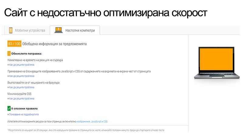 Скорост на сайта
